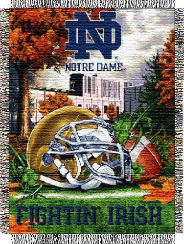 (The Northwest Company Notre Dame Woven Tapestry Blanket)