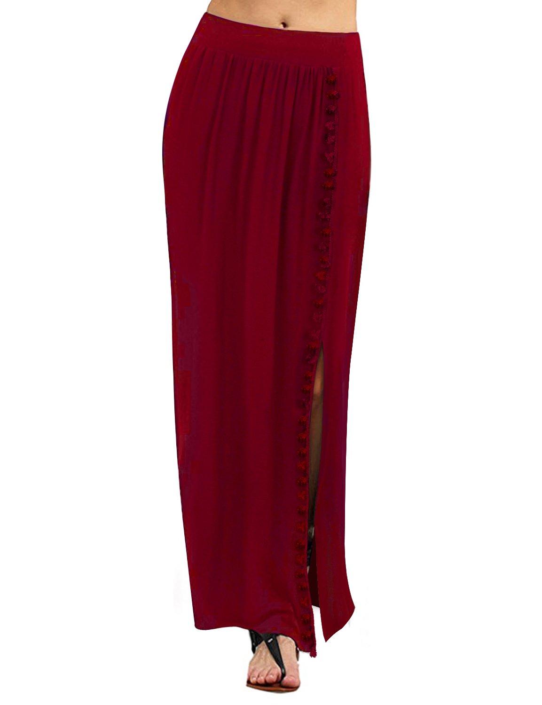 Regna X for Women's All Seasons Light Cool Cover up Plus Big Floor Length Maxi Skirt