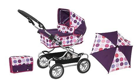 Mamas and Papas 1422963 - Carrito de bebé de juguete con accesorios, diseño de lunares