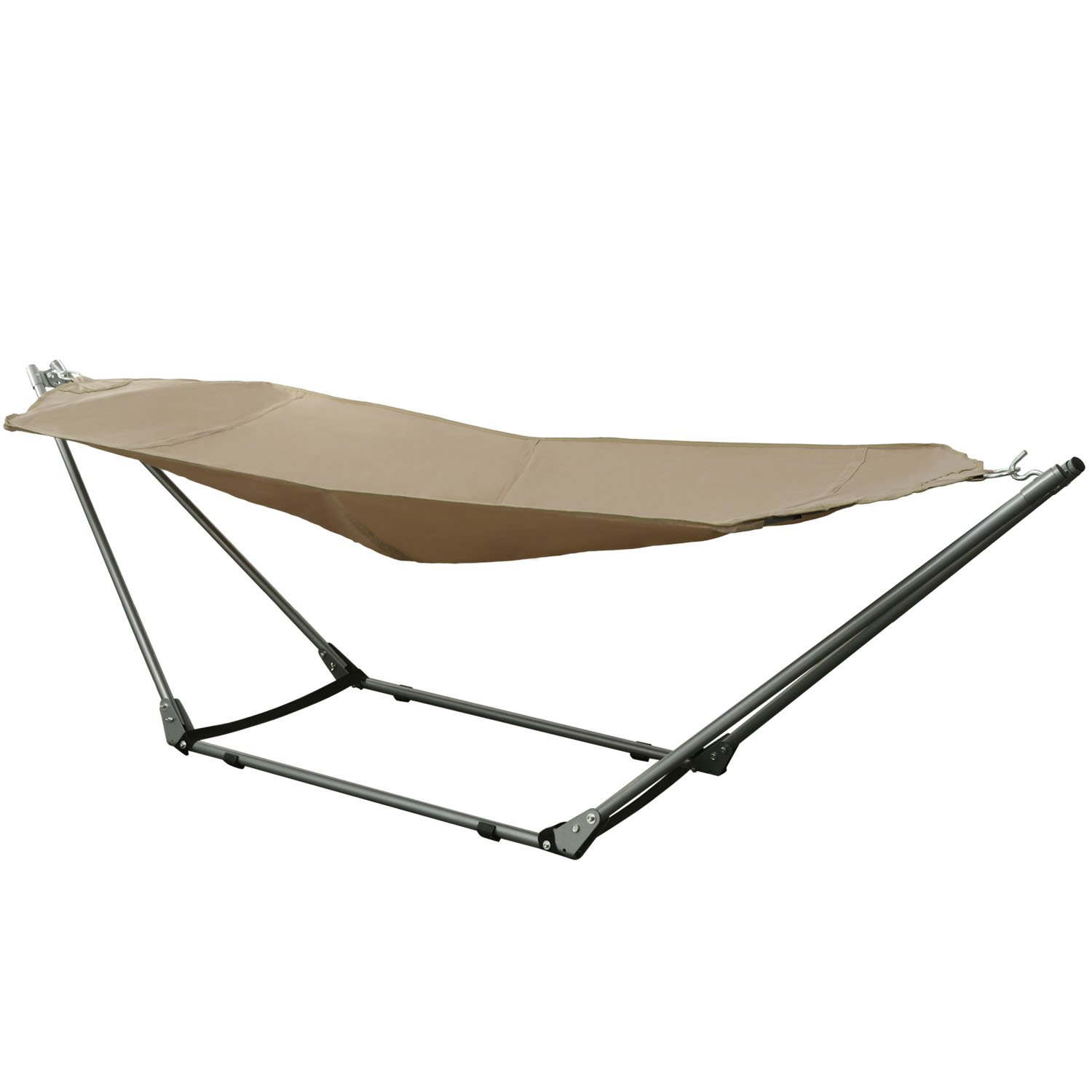 Ancheer Portable Canvas Hammock with Space-saving Steel Stand and Shoulder  Harness Carrying Bag - Amazon.com : Stalwart Portable Hammock With Frame Stand And