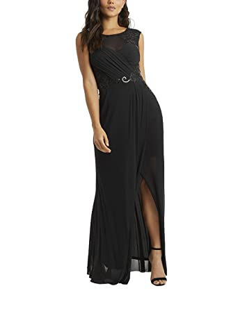 1e94942a LIPSY Womens Built Up Sequin Maxi Dress - Black -: Amazon.co.uk: Clothing