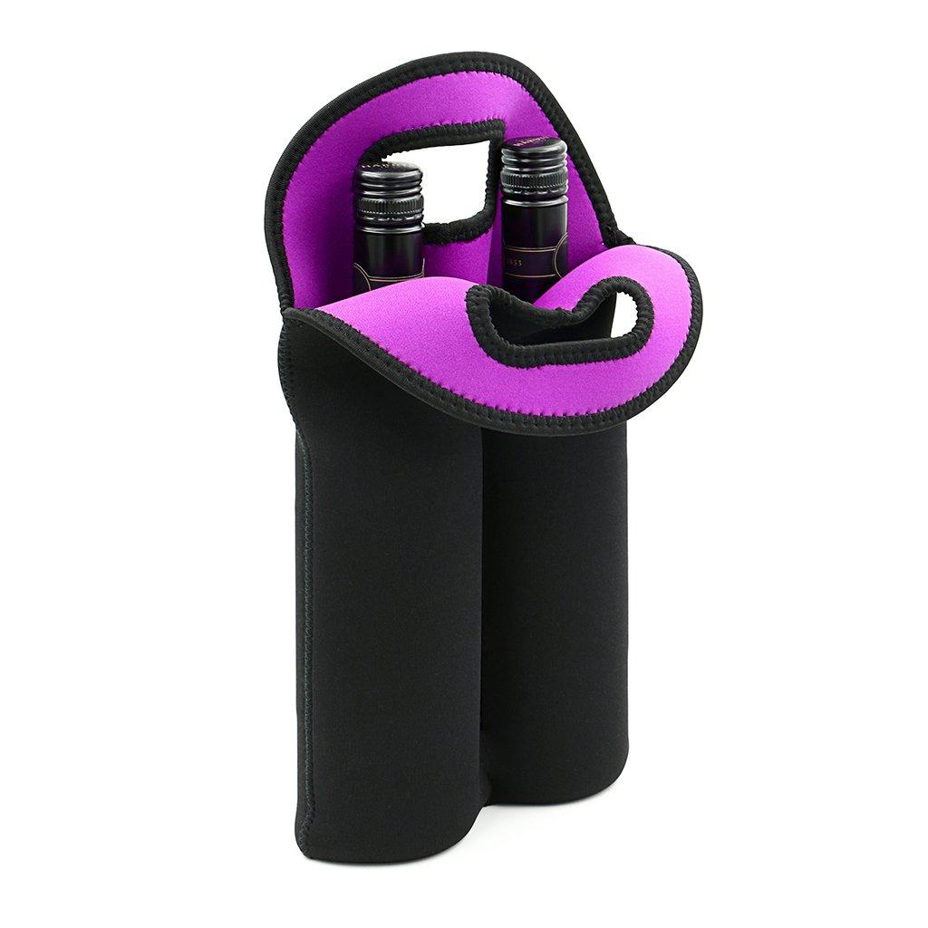 Borsa da trasporto Btsky, per bottiglie di vino, champagne in bottiglia o in lattina, bevande; materiale: neoprene isolato, colore nero.