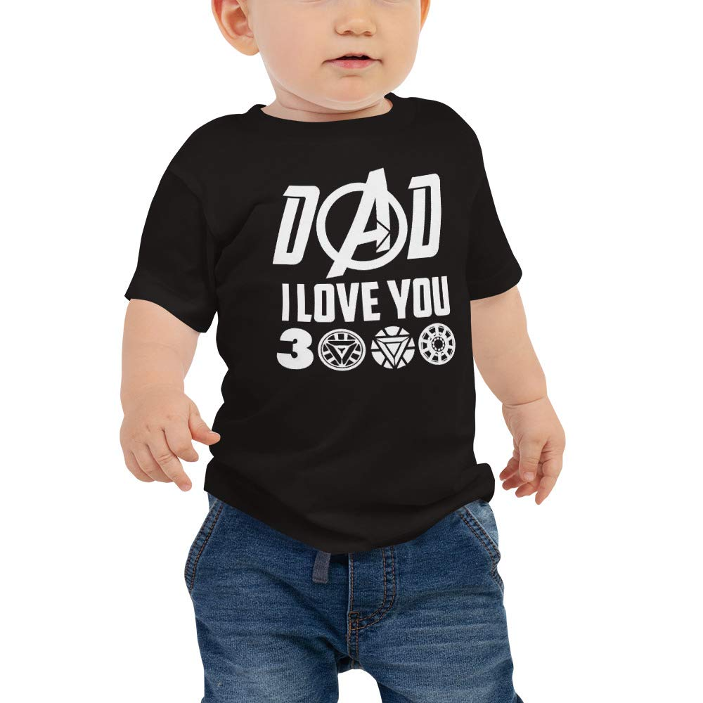 I Love You 3000 Love DAD Baby Jersey Short Sleeve Tee