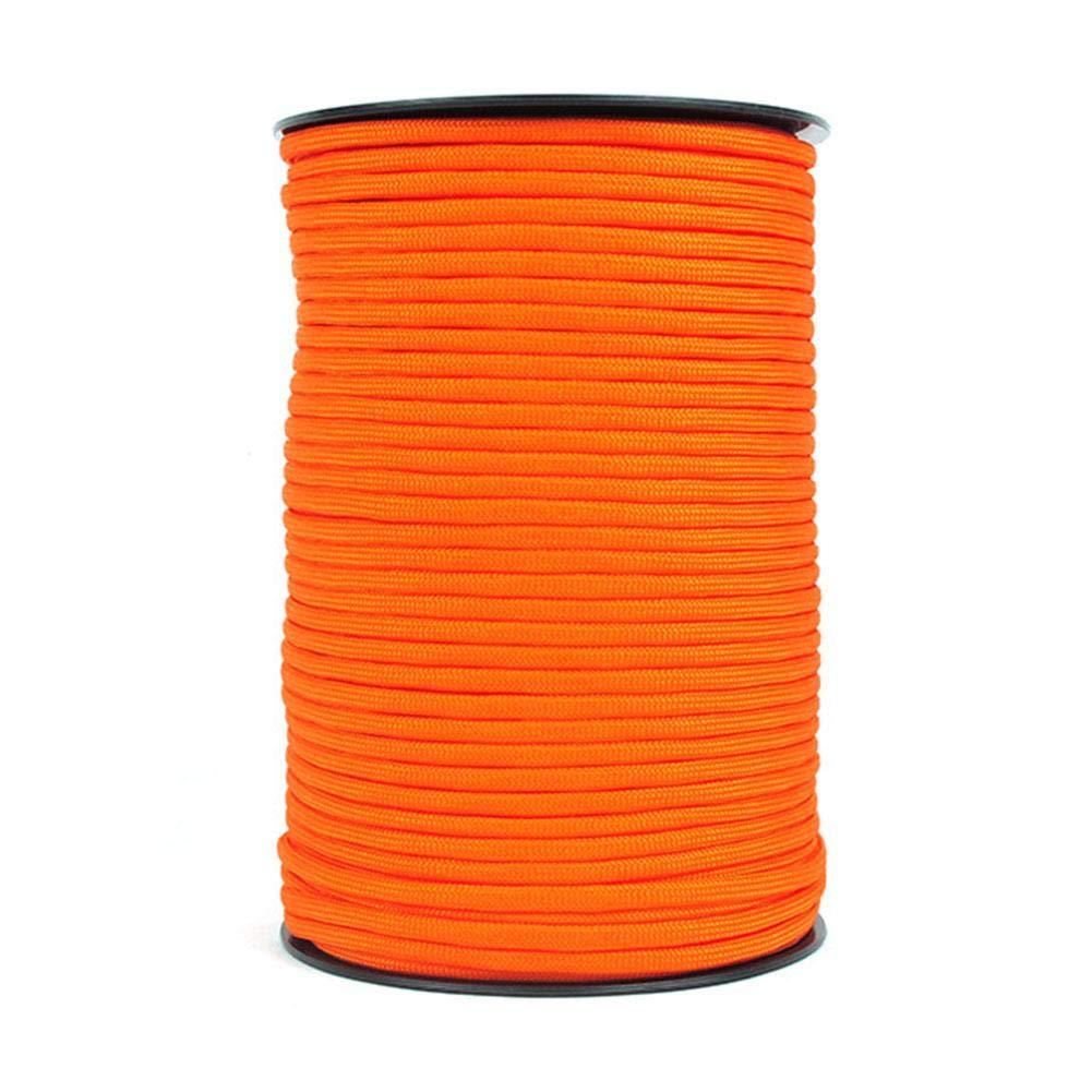 RONDAA Cuerda Resistente Resistente de la Tienda de la Cuerda del paraca/ídas de Paracord del Tipo 550 del acollador 550 de la Cuerda Durable del 100m