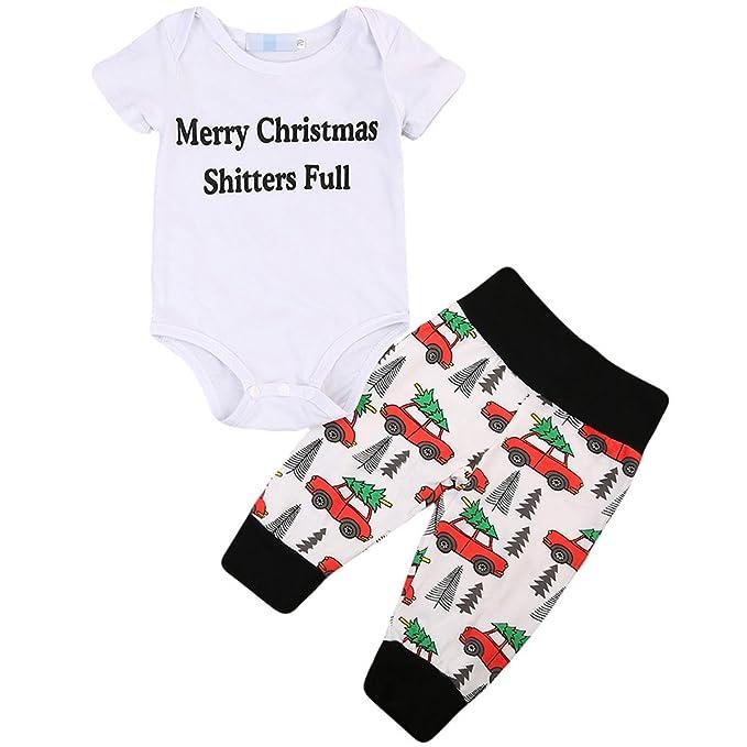 Amazon.com: Set Baby Boy Girl 2pcs ropa recién nacido Carta ...