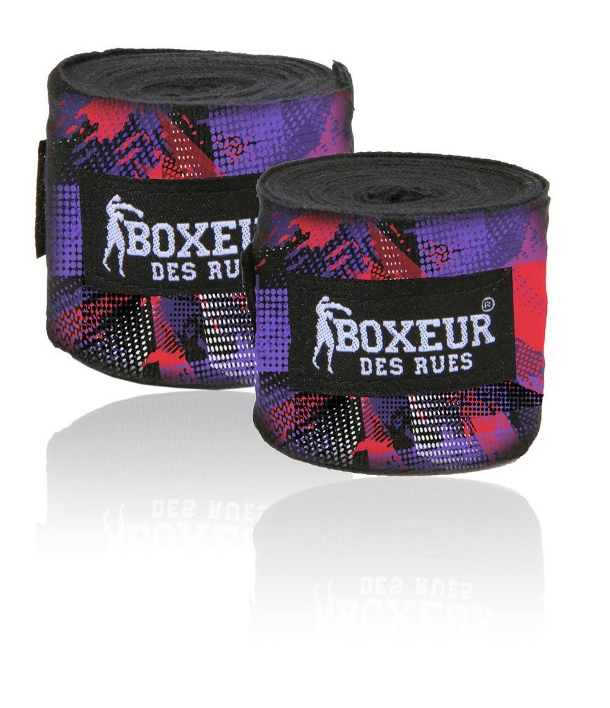 BOXEUR DES RUES Serie Fight Activewear, Bendaggi Unisex Adulto