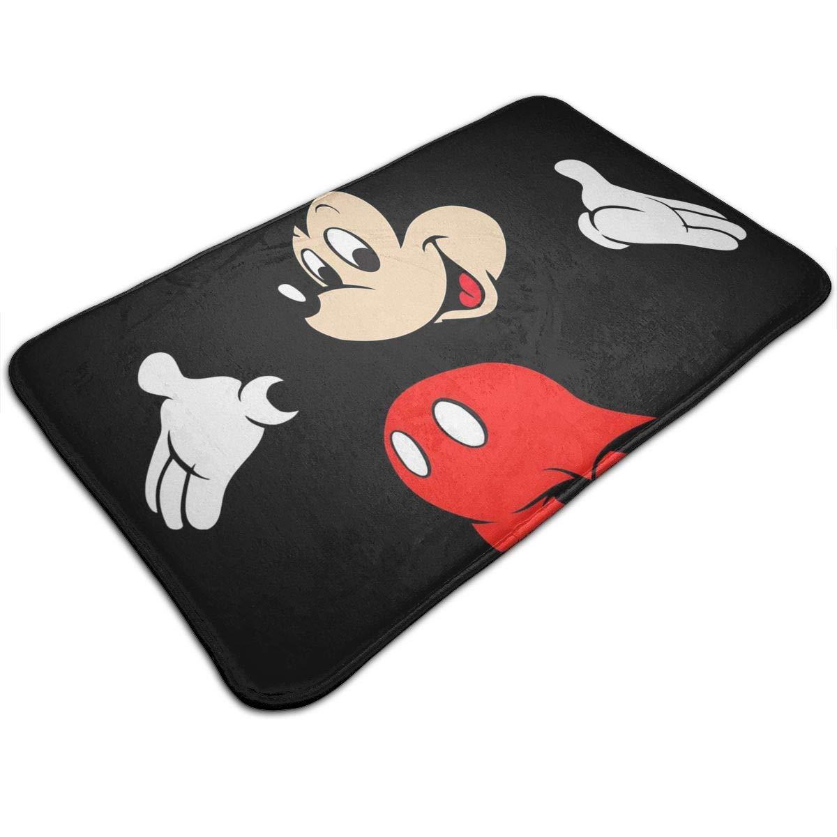Xzcxyadd Bath Mat- Mickey Mouse Design, Non Slip Absorbs Soft Rug Carpet for Indoor Outdoor Patio