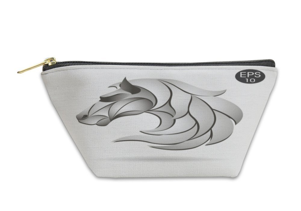 Gear New Accessory Zipper Pouch, Horse Head Logo Emblem Symbol For Business, Large, 5832553GN