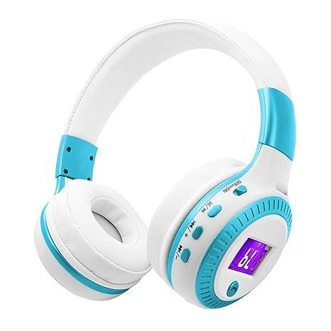 Auriculares Bluetooth,SUAVER Pantalla LED Pantalla Plegable Hi-Fi Stereo Wireless Headset,Bluetooth
