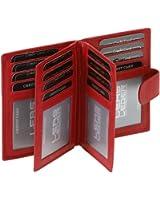 Porte-cartes LEAS en cuir véritable, rouge - ''LEAS Card-Collection''