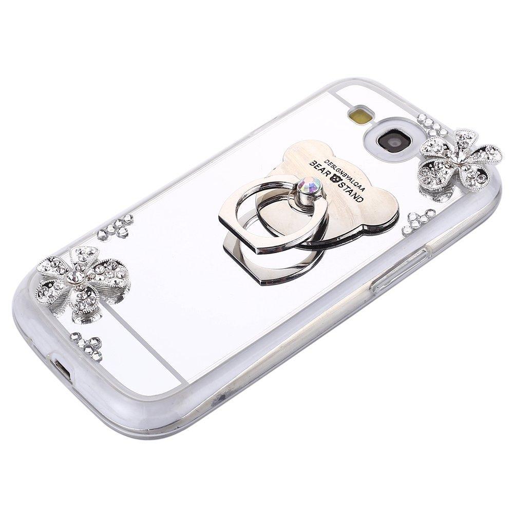 Felfy Samsung Galaxy S3 H/ülle Glitzer,Galaxy S3 Neo Handyh/üllen f/ür M/ädchen TPU Silikon /Überzug Mirror Spiegel Schutz Schutzh/ülle Ultra D/ünn Schlank Gl/änzend Bling Glitzer Kristall Cover