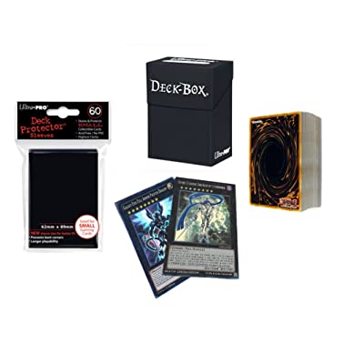 *70* YuGiOh! Cards Pack with XYZ + Rares + Holos + Ultra Pro Deck Box & Sleeves: Toys & Games