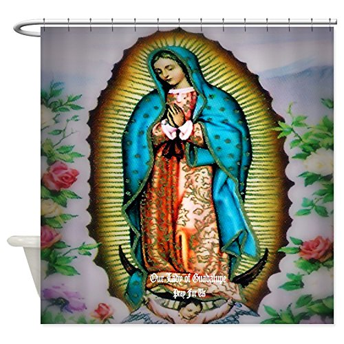 CafePress Our Lady of Guadalupe Shower Curtain Decorative Fabric Shower Curtain (69