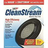 Shop Vac 903 61 00 CleanStream High Efficiency Wet & Dry Vac Cartridge Filter