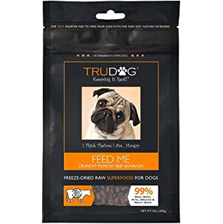 TruDog: Feed Me: Freeze Dried Raw Superfood - Real Meat Dog Food - Optimal