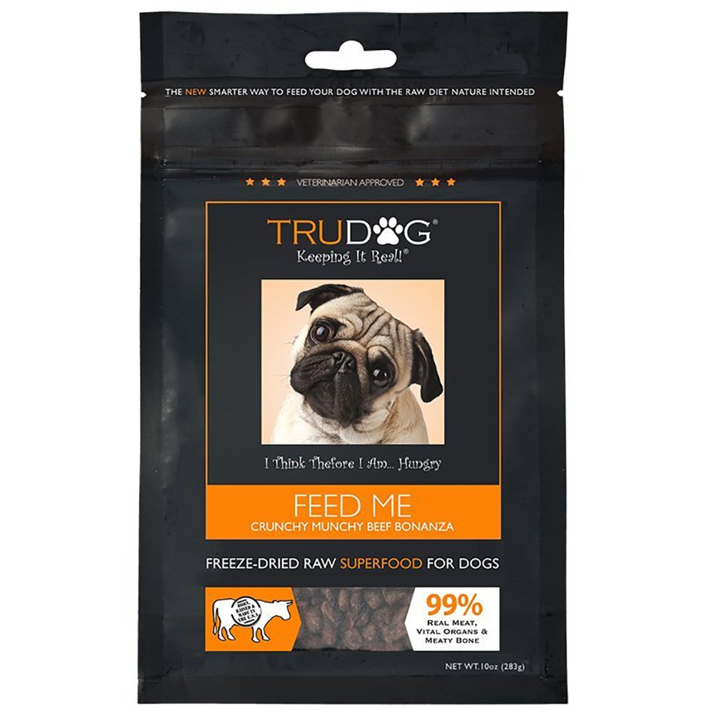 TruDog: Feed Me: Freeze Dried Raw Superfood - Real Meat Dog Food - Optimal Canine Health and Natural Longevity - All Natural - Balanced Nutrition - No Filters, No Grain - Just Add Water 1