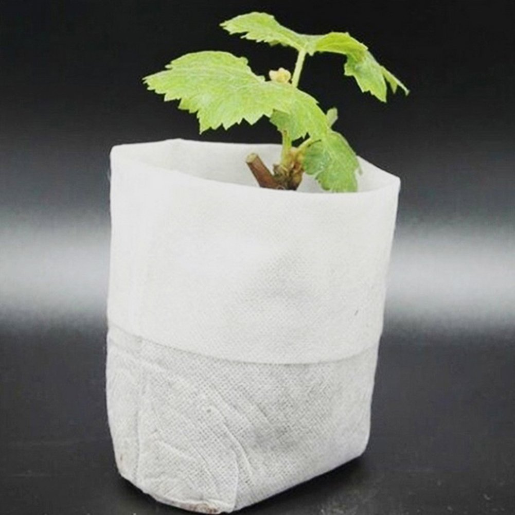 100Pcs/set Nursery Pots Seedling raising Bags 8*10cm Fabrics Garden Supplies GEZICHTA