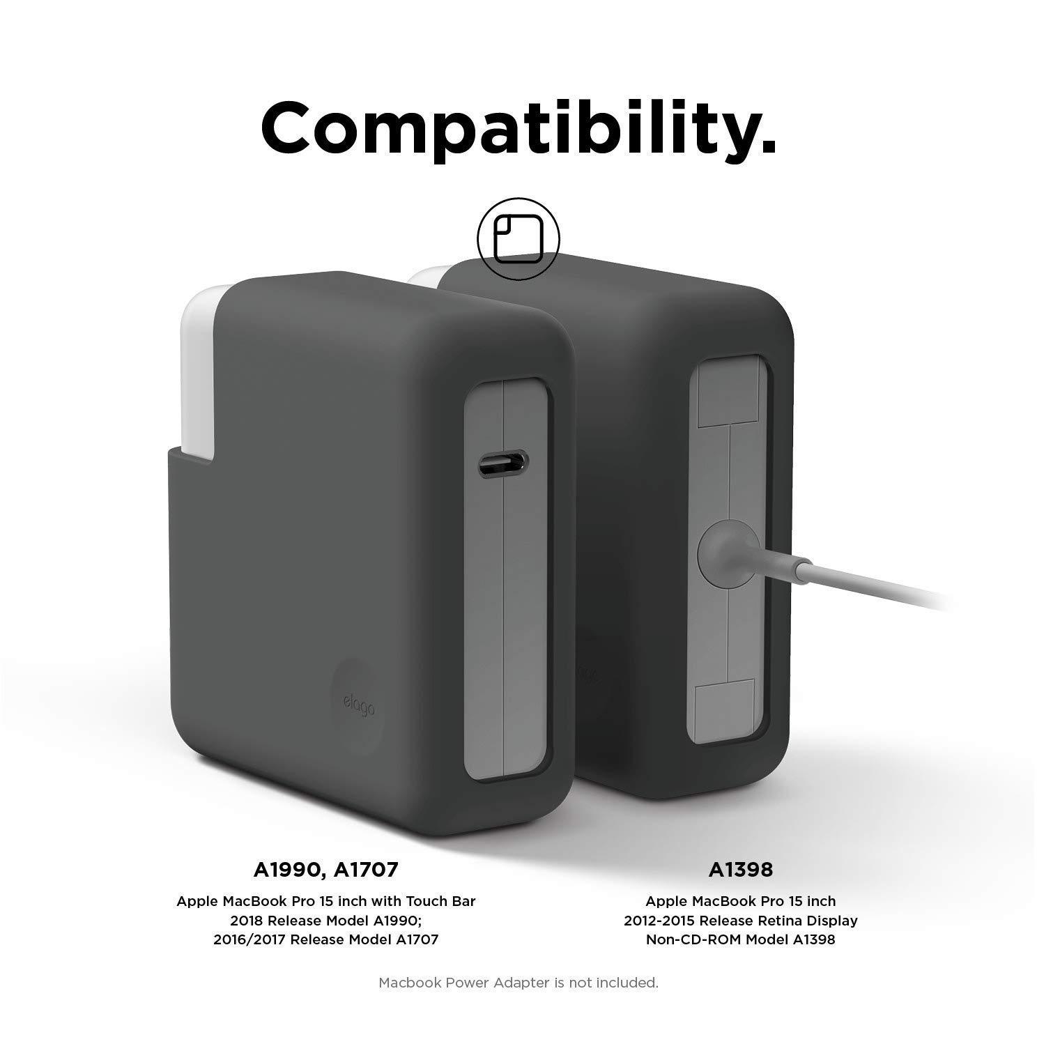 """elago Funda de Silicona para Adaptador de Corriente Compatible con Apple MacBook Pro 13"""" con o sin Touch Bar/Pantalla Retina/Thunderbolt 3 USB-C ..."""