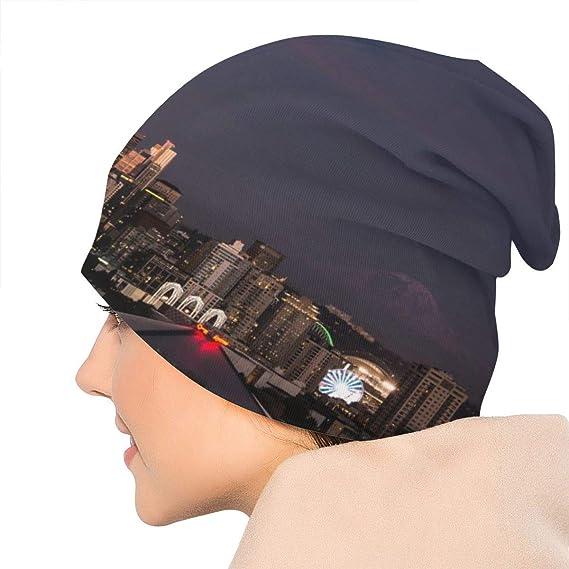 NA Bonnet dhiver Chaud en Tricot Motif t/ête de Mort pour Homme et Femme Style Vintage Dor/é Soleil Lune /Étoile
