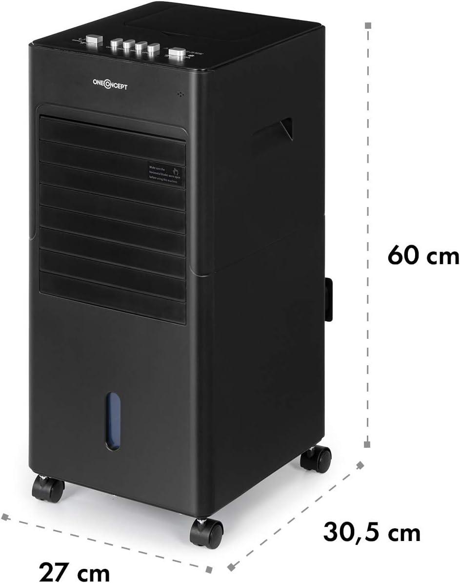 Humidificateur Ventilateur Oscillation Horizontale Volume du r/éservoir: 6L Refroidisseur 360m/³//h Blanc 3 Vitesses de Vent Mobile OneConcept Freshboxx Rafraichisseur dair 65 W