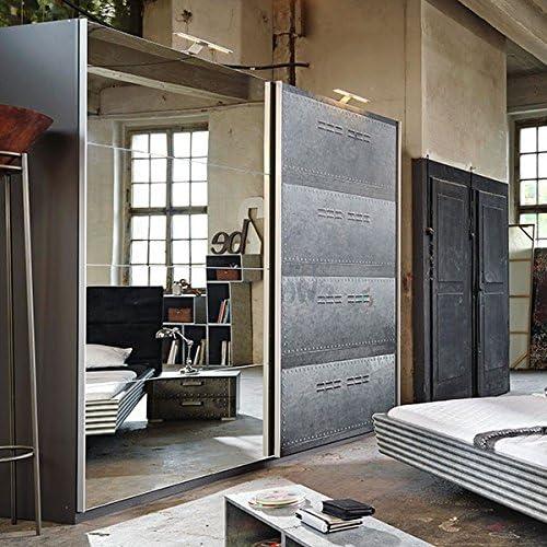 Armario de Puertas correderas Industrial Aspecto B 270 cm – Armario ropero Armario de Habitaciones de niños y jóvenes.: Amazon.es: Hogar