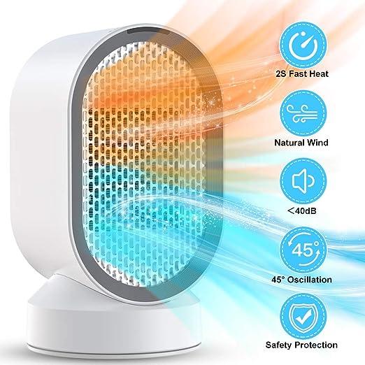 Calefactor Portátil Eléctrico Mini Calefactor Silencioso con ...