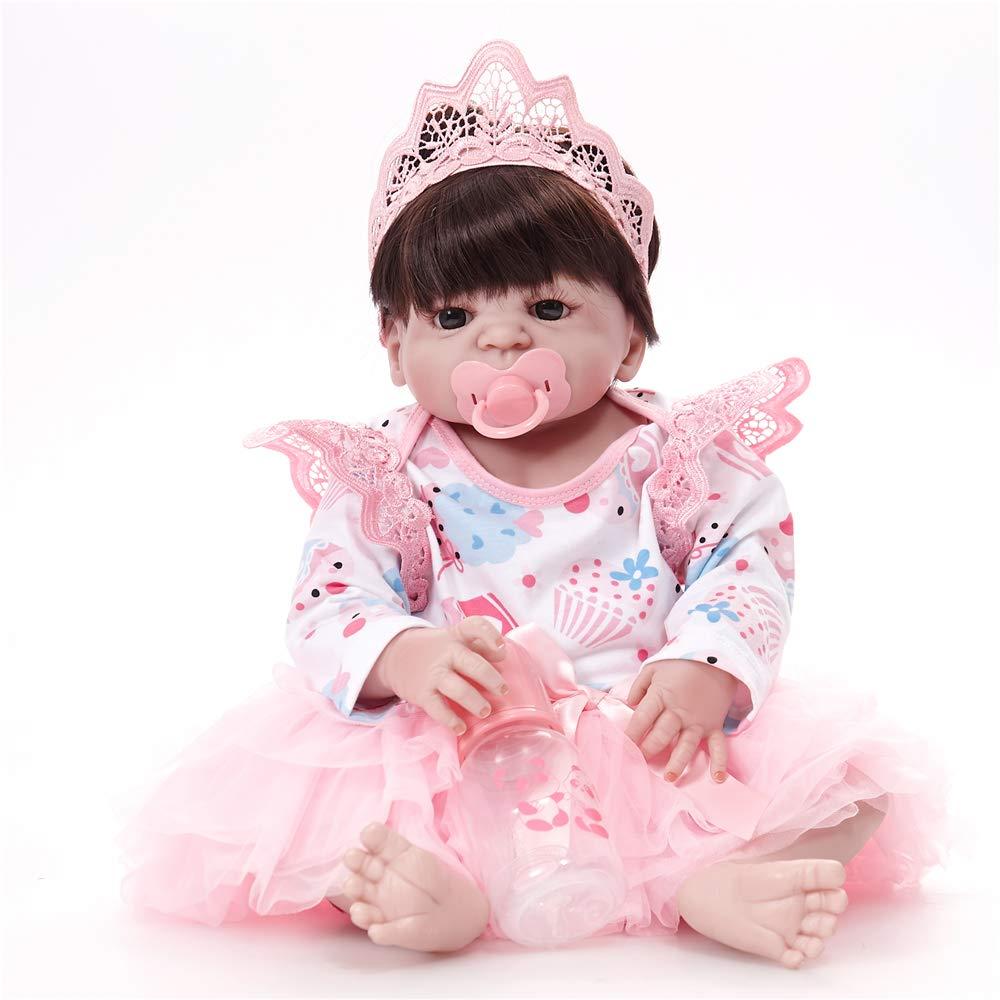 LXWM Reborn Bambola Molle del Bambino di Simulazione del Silicone Vinile 22 Pollici 55 Centimetri Magnetica Bocca Bella Realistica Sveglia della Ragazza del Ragazzo Bambini Giocattolo