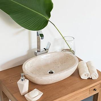 Marmor Waschbecken wohnfreuden marmor waschbecken mara 45 cm creme naturstein