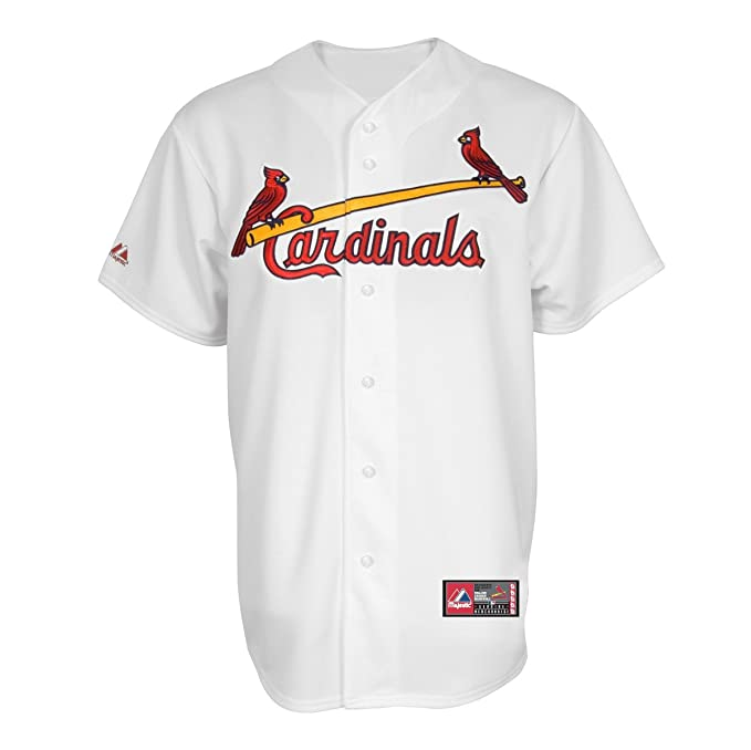 31b278006e4b MLB Men s St. Louis Cardinals David Freese White Home Short Sleeve 6 Button  Synthetic Replica Baseball Jersey by Majestic (White