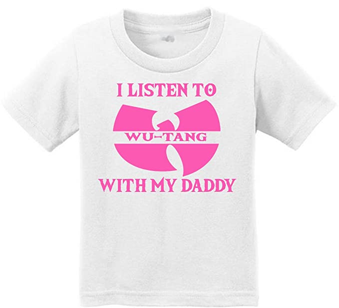 ef48d6cb Amazon.com: Anicelook I Listen to the WUTANG with my daddy Toddler T ...