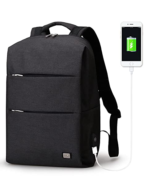 7ea988a80ebc Image Unavailable. Image not available for. Color  Mark Ryden Business  Water Resistant Polyester Laptop Backpack with USB Charging Port ...