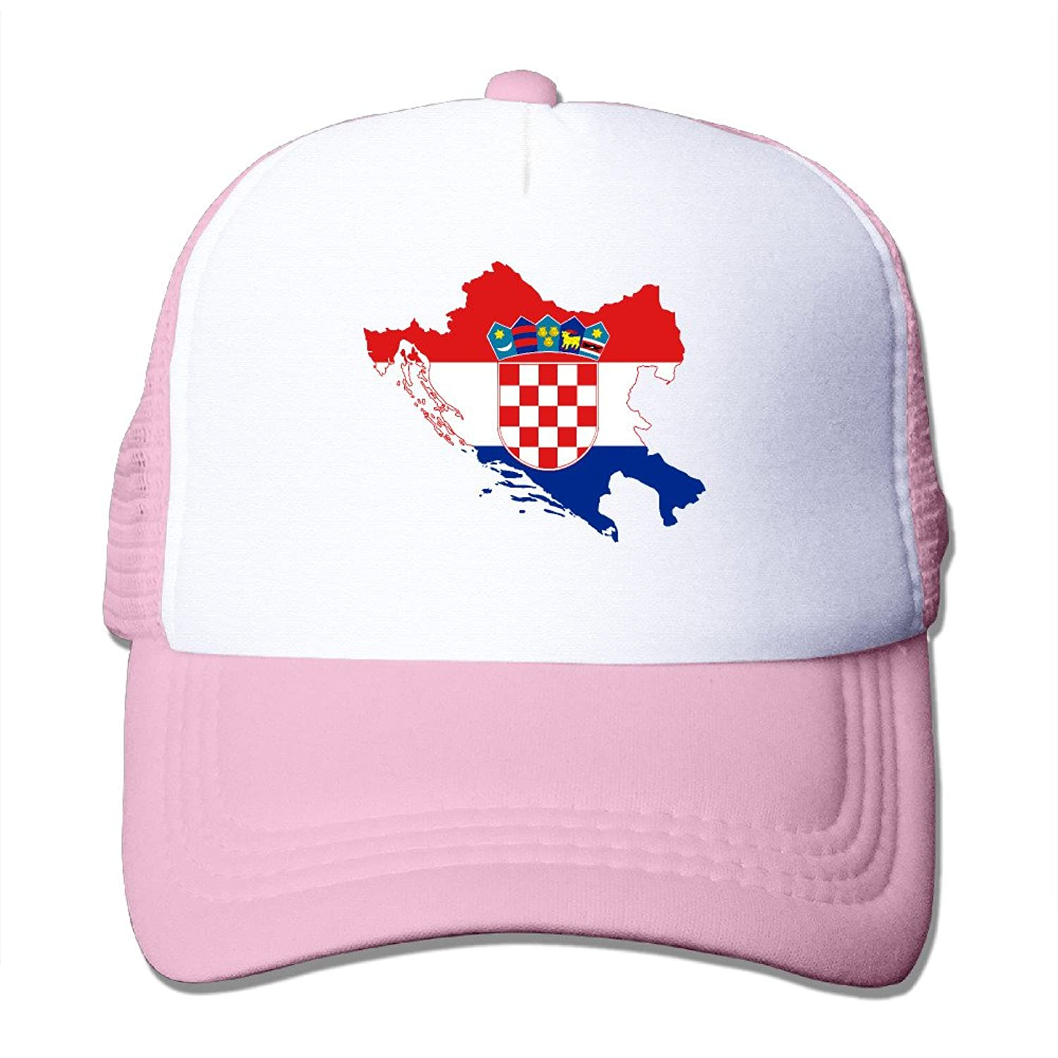 Adult Unisex Croatia Flag 100% Nylon Mesh Caps One Size Fits Most Hip-Hop Caps Adjustable