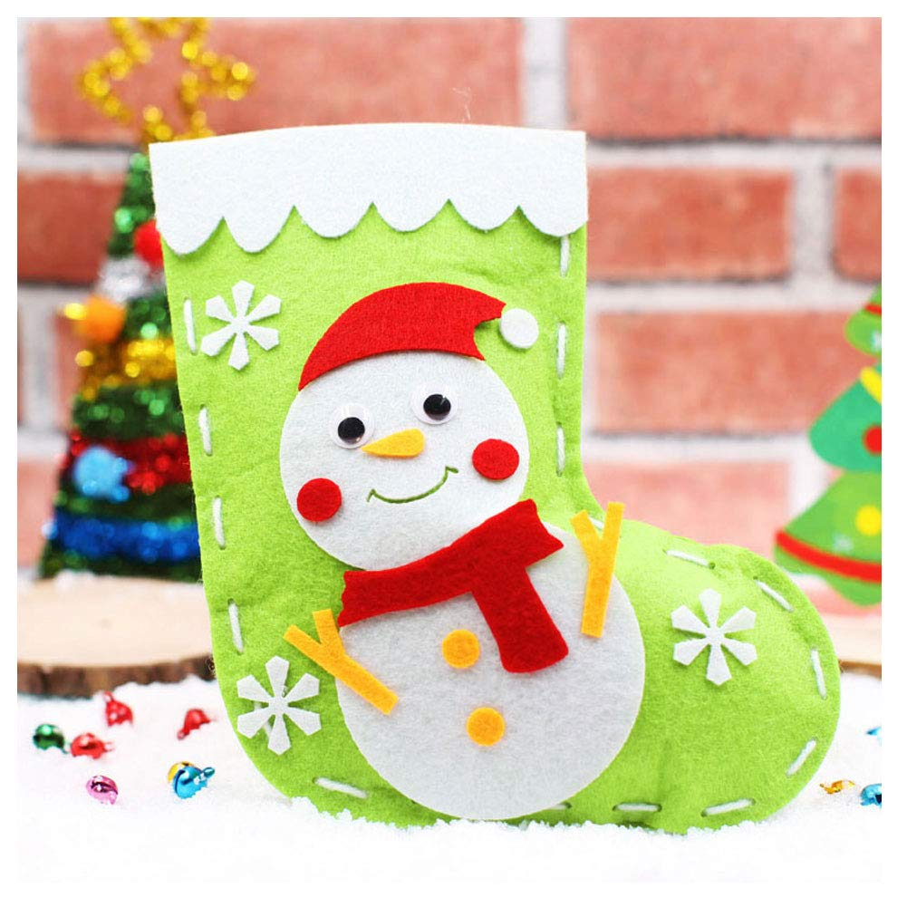 DIY Felt Sewing Kit for Girls and Boys Mimgo-shop Christmas Stocking Sewing Craft for Kids