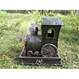 Hi-Line Gift Ltd. Steam Engine Fountain with Mist Maker