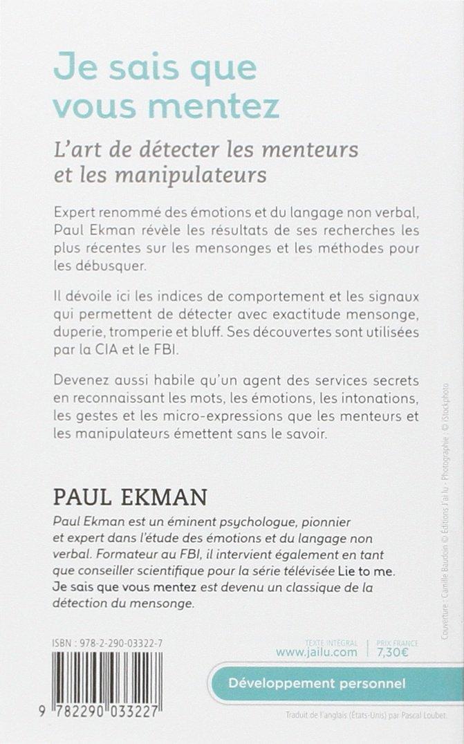 je sais que vous mentez paul ekman pdf gratuit