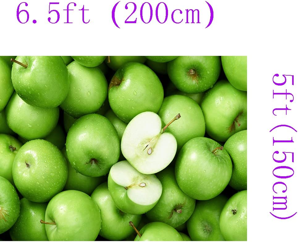 2x1.5m Gorgeous Abstract Artistic Water Drops Cyan Green Apple Fruits Children Baby Newbron Kids Birthday Party Wedding Themed Portrait Studio Photography Backdrop Background 353 DZJYQ 6.5x5ft