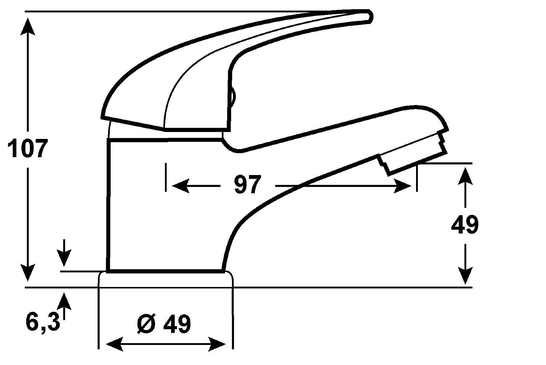 CON:P SA840 Monomando para Lavabo