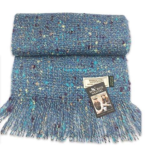 Alpaca Boucle Scarf - Mucros Alpaca Bouclé Scarf - Blue, Brown and Teal