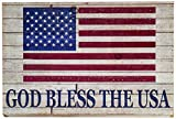 Cheap Worth Imports 18″ Distress God Bless The USA Wooden Sign
