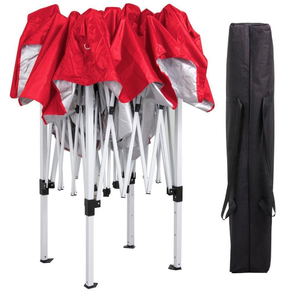 Popamazing All Seasons Gazebos,3x3m Heavy Duty Pop Up Tent Folding Canopy Tent