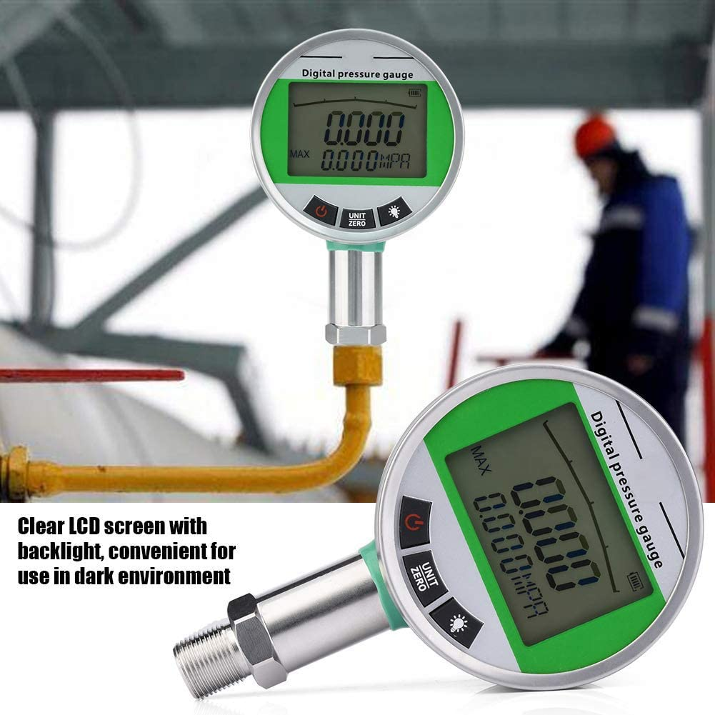 CHUNSHENN 0-1.6MPA 4.5V Digital Stainless Steel Hydraulic 0.5 Pressure Gauge with M201.5 Connector Hydraulic Equipment Gauges