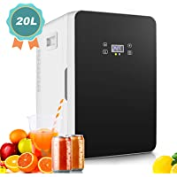 20L Mini Fridge, Large Capacity Compact Cooler and Warmer with Digital Thermostat Display and Control Temperature, Single Door Mini Fridge Freezer for Cars, Road Trips, Homes, Offices & Dorms
