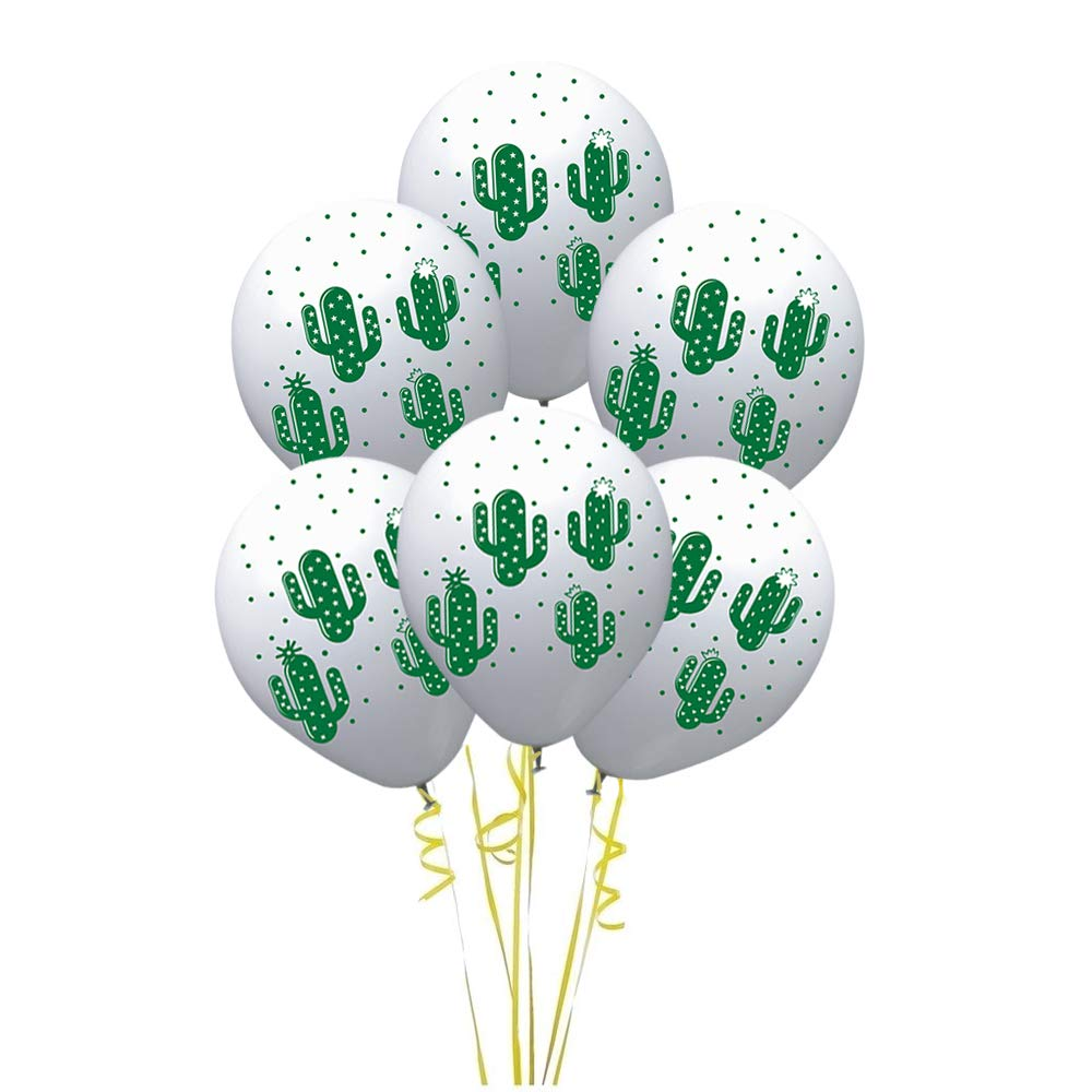 ffa48830a Amazon.com: 12 Inch Cactus Print White Latex Balloons,50 Count for Children  Boys Girls Birthday Party Baby Shower Decoration: Home & Kitchen