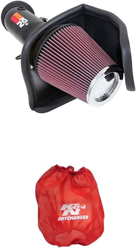 K/&N 69-2550TTK Performance Air Intake System with Red Air Filter Wrap