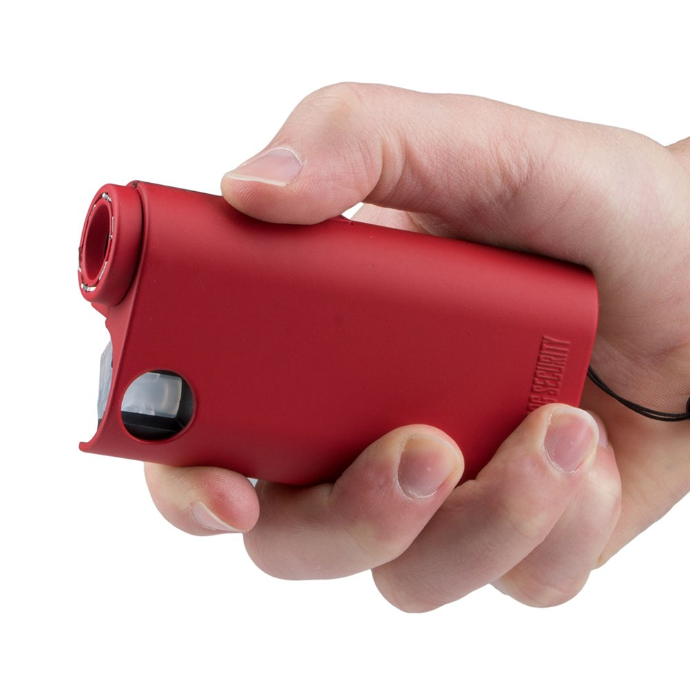 World's Only All-In-One Stun Gun - Pepper Spray - Flashlight, Guard Dog Security Olympian, Red