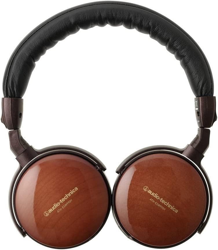 Audio-Technica ATH-ESW990H Portable Wooden On-Ear Headphones