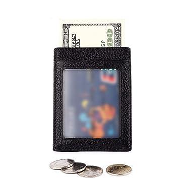 Lieyliso JINBAOLAI Estuche para Tarjetas de crédito y Tarjetas bancarias de Cuero Genuino Estuche pequeño para Billetera (Color : Black): Amazon.es: Hogar
