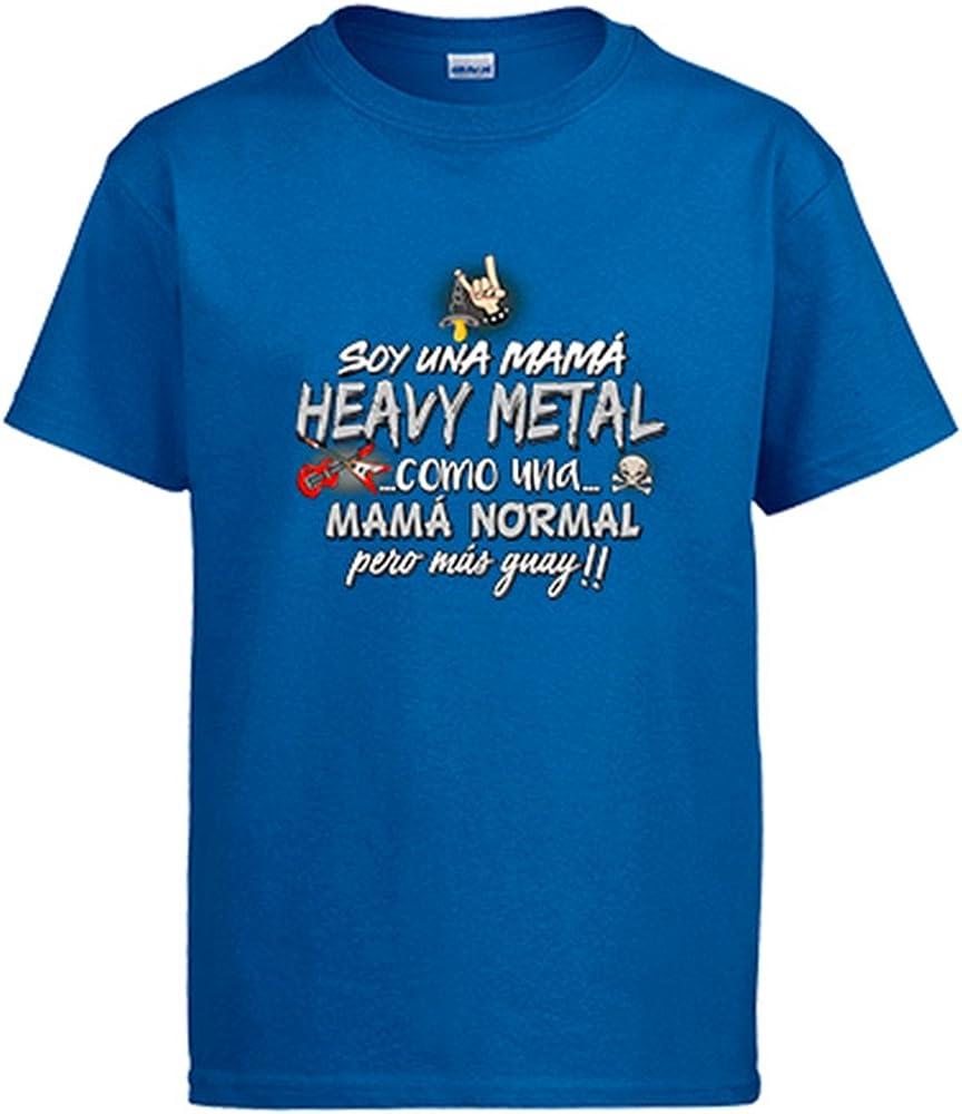 Diver Camisetas Camiseta Soy una mamá Heavy Metal Guay - Azul Royal, 3-4 años: Amazon.es: Ropa y accesorios