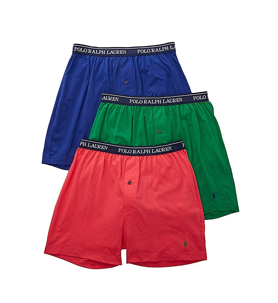 e20ef34cc3fa Polo Ralph Lauren Men's 3-Pack Knit Boxers at Amazon Men's Clothing store: