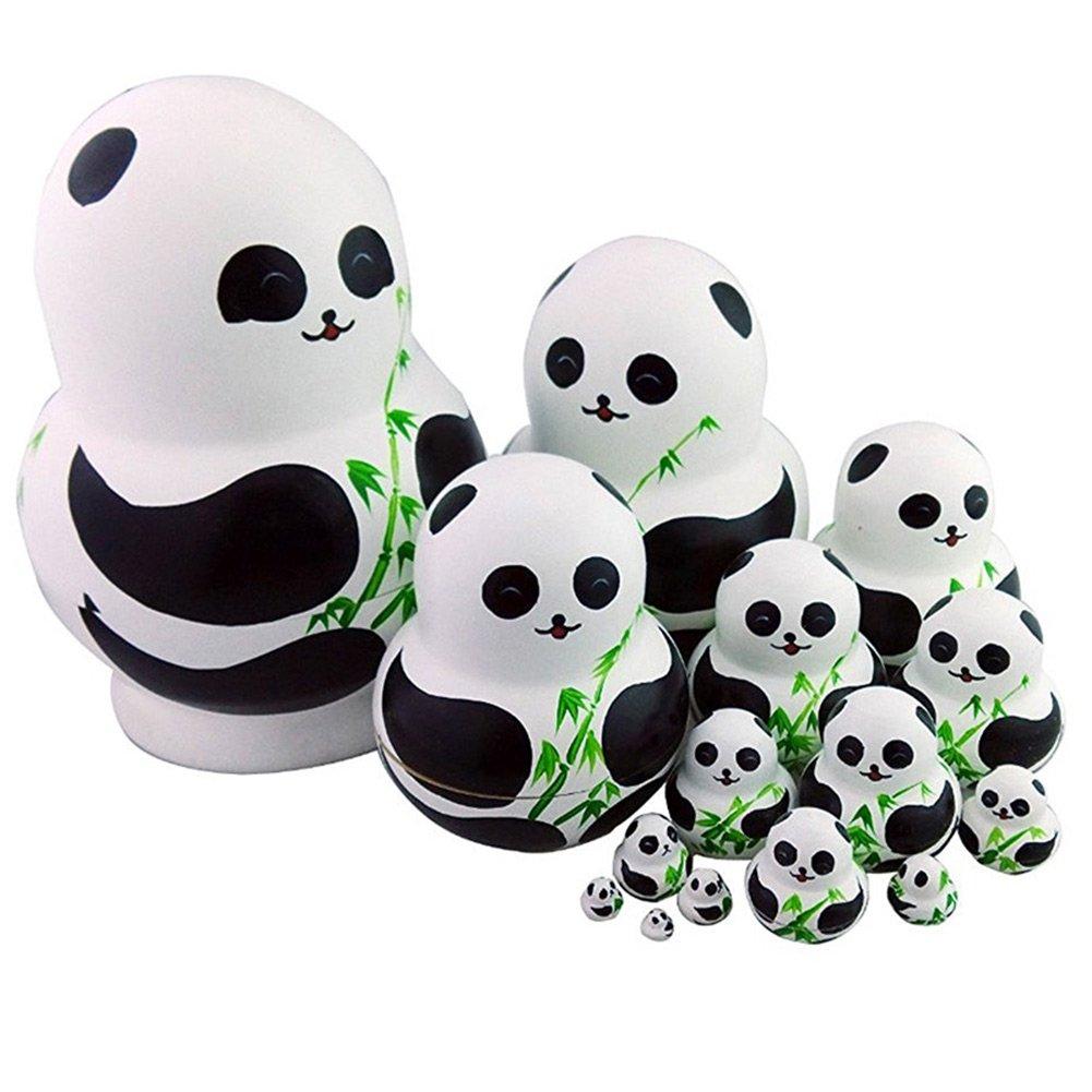 Wildlead 15 Stücke Russische Matryoshka Puppen Tier Panda Mit Bambus ...